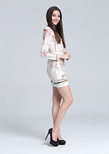 Baymate Femmes Slim Fit Col Rond Robes Imprimé Floral Mini Formelle Des Affaires Robe Comme l'image