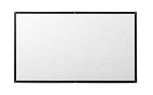 ivolum Beamer-Leinwandtuch - 300x169 cm - 16:9 - Gain 1,1 - Wandbefestigung - 3D und Full-HD - per Klett, Nägel oder Schrauben fixierbar