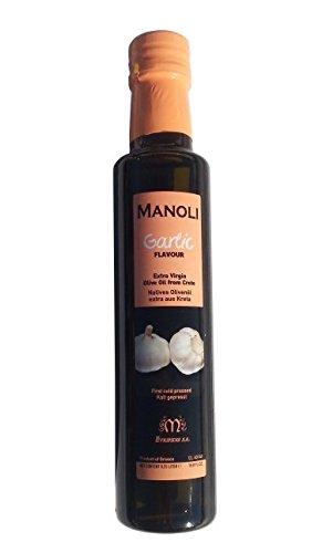 Knoblauch Olivenöl MANOLI aus Kreta Griechenland 250ml Oliven Öl Knoblauchöl