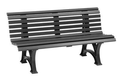 Parkbank aus Kunststoff – mit 13 Leisten – Breite 1500 mm, stahlblau – Bank Gartenbank Kunststoff-Bank Kunststoff-Bänke Ruhebank - 5