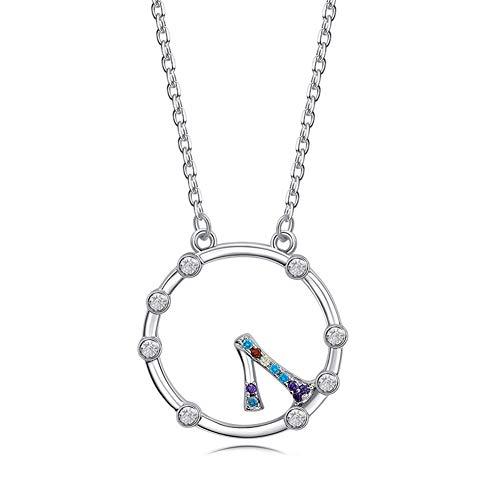 J.Memi\'s 925 Sterling Silber Halskette Für Frauen Kristall Zirkon Romantische Taschenuhr Form Anhänger Schmuck Schlüsselbeinkette Weihnachts Thanksgiving Geschenk,Silber
