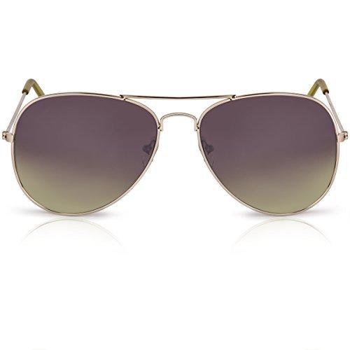 Oramics Pilotenbrille mit Farbverlauf, unisex, mit 400 UV-Schutz, (Achtziger Jahre Sonnenbrille)