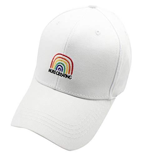 Syeytx Männer Frauen Baseball Caps Mode Regenbogen Englisch Alphabet Cap Einstellbare Baumwollkappe Stern Strass Kappe
