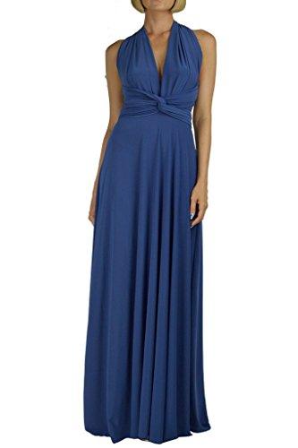 Von Vonni Transformer-Kleid, lang - One Size Fits USA 2-10 - Chambray