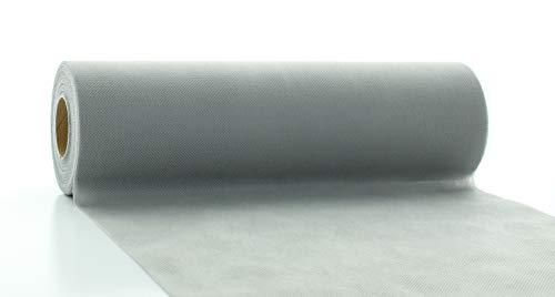 Vlies-Tischläufer Tischband HELL-GRAU ANTHRAZIT 30cmx20m | abwaschbar | Tischdeckenrolle stoffähnlich edel für Hochzeit | Feier | Geburtstag | Party (auf der Rolle)