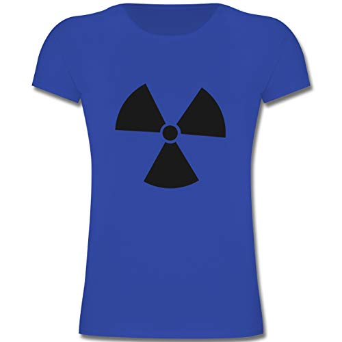 Girl Danger Kostüm - Karneval & Fasching Kinder - Biohzard Kostüm - 116 (5-6 Jahre) - Royalblau - F131K - Mädchen Kinder T-Shirt