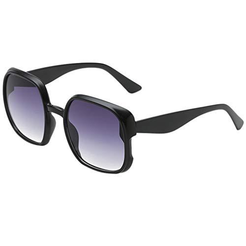 fazry Damen Herren Mode unregelmäßige Form Sonnenbrille Vintage Style Brille(E)