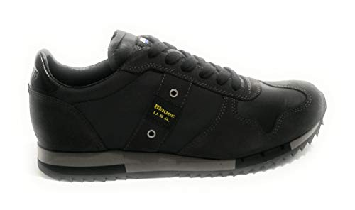 Blauer scarpe uomo sneakers pelle nera 8fquincy01-tas-black