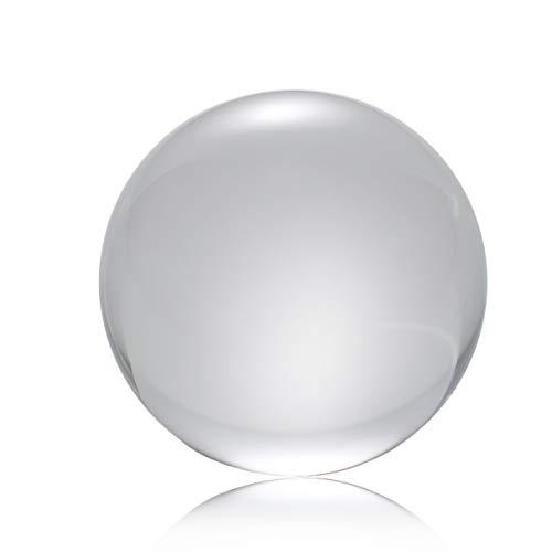 100mm Kristallkugel Quarzglas Transparente Kugelkugeln Feng Shui Glaskugel Miniaturen Ornamente Geschenk - Transparent - 100mm -