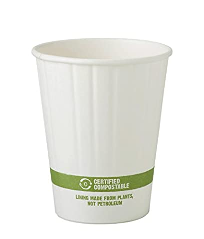 World Centric CU-PA-12D Compostable Double Wall Paper Hot Cup, 12 oz. (Pack of 1000)