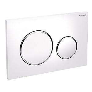 Geberit Betätigungsplatte für Unterbauspülkasten,Drucktasten sigma-20Kunststoff weiß chrom glänzend weiß