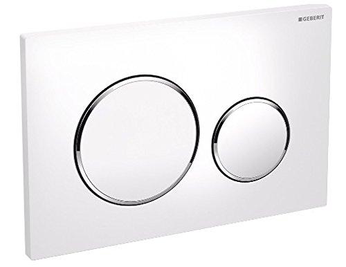 Preisvergleich Produktbild Geberit Betätigungsplatte für Unterbauspülkasten,Drucktasten sigma-20Kunststoff weiß chrom glänzend weiß
