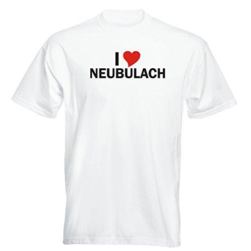 T-Shirt - i Love Neubulach - Herren - unisex Weiß
