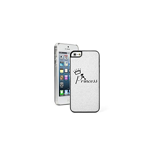 white-apple-iphone-5-5s-glitter-bling-hard-case-cover-5g752-princess-with-crown