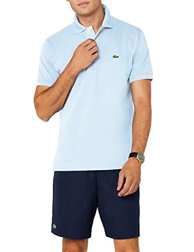 Lacoste Herren Regular Fit Poloshirt L1212 Einfarbig, Blau (L63 MINERAL), L (Herstellergröße: 5)