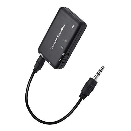 HKFV Bluetooth 2-in-1-Adapter 4.1 Stereo Audio Sender und Empfänger Audio 3,5 mm Adapter USB-Ladekabel