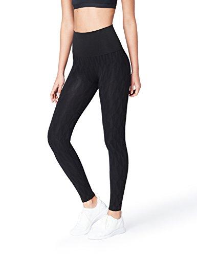 FIND Mallas de Deporte Estampadas sin Costuras para Mujer , Negro (Black), 38 (Talla del fabricante: Small)