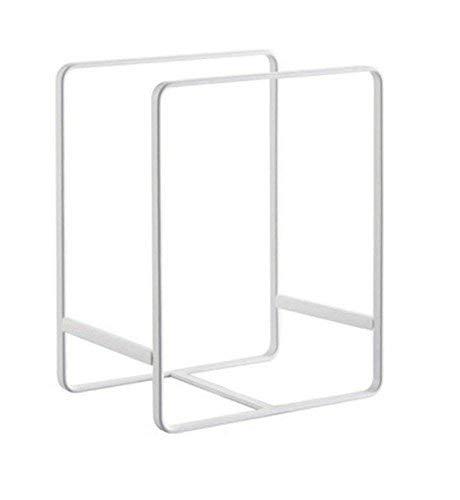 Metall Teller Gericht Organizer Rack Ständer für Küche Schrank, Zähler und Schrank Large, White weiß -