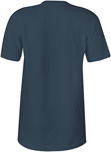 Lieblingsoma �?V-Neck T-Shirt Frauen-Damen �?hochwertig bedruckt mit lustigem Spruch �?Die perfekte Geschenk-Idee (03) dunkelblau