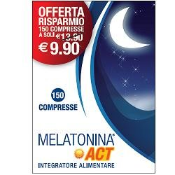 Linea ACT - Melatonina ACT 1mg - Integratore Alimentare a base di Melatonina - 150 compresse