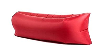 Starmo Red Inflatable Lounger Sofa Sleeping Bag,Compression Air Beds,Portable Chair,Air Mattresses Beds.Ideal For Lounging, Camping, Beach, Fishing, Kids, Chilling, Parties, Swimming Pools, Camping And More. - low-cost UK light shop.