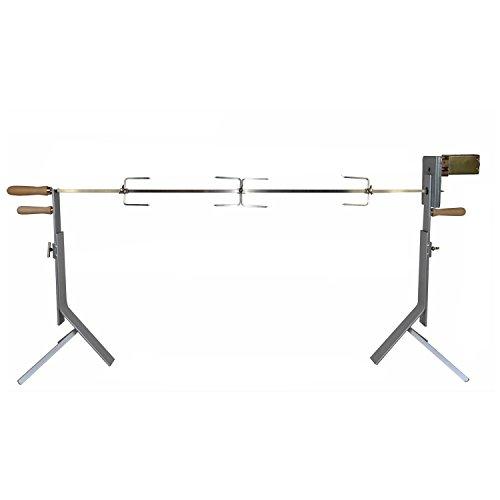Komplettes Rotisserie Set mit Dreibeinhalterung ink. Motor und Zubehör - Spiessgrill