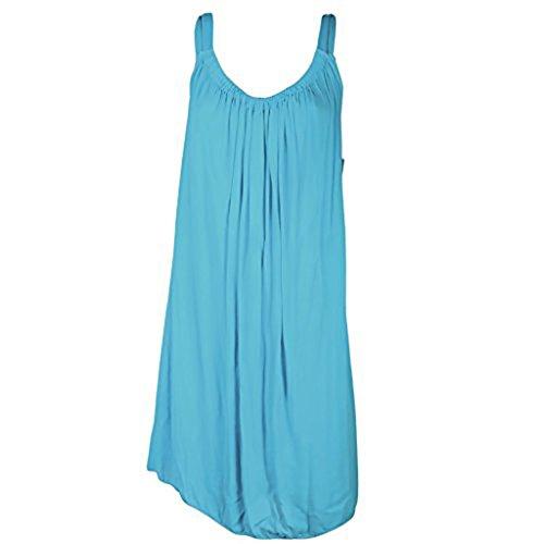 Robe Courte, Ample et Légère D'été - Taille Unique (36/44) Turquoise