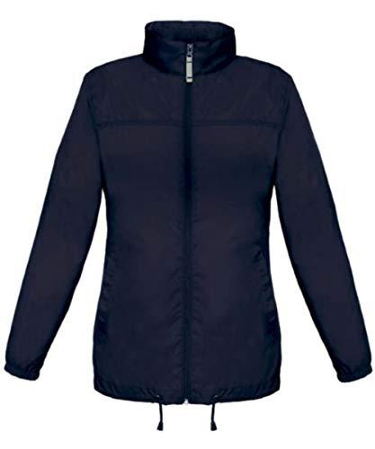 Shirtinstyle Basic Lady Windjacke Regenjacke Jacke Waserabweisend mit Kapuze, Farbe navy, Größe L