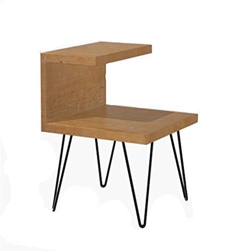 SY ZYQ Nachttisch Kanada Holz Tanne Nordic Nachttisch Montageschrank Einfache Moderne Kabinett Schmiedeeisen Holz Bett kleinen Schrank 50x50x50cm -