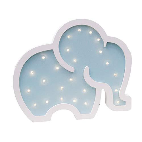 Elefante LED Luz de noche Luz LED Lámparas de pared Sala de estar Luz decorativa Navidad Sala de estar Lámpara de mesa decorativa Lámpara de humor