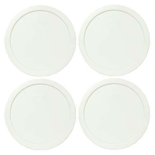 Pyrex 7402-PC Deckel für Frischhaltedosen, Kunststoff, rund, Weiß, 4 Stück