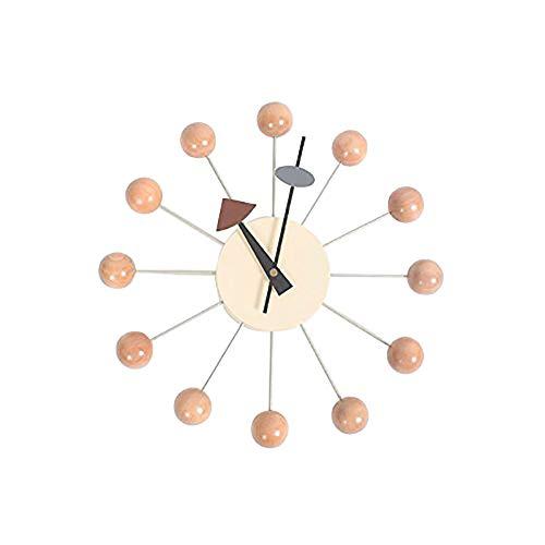 Moderno orologi a sfera in colore naturale,legno classico orologio da parete mezzo secolo home decor