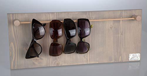 HappyBoard Brillenhalter für Sonnenbrillen und Lesebrillen HOLZ hellgrau