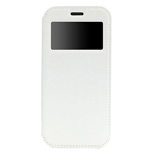 Original Roar Hülle für Samsung Galaxy Note 3 - Luxus Handytasche Flip Case Bookstyle - Perfekter Rundum Schutz inkl. Fenster Magnet Kartenfach TPU Silikon Innen-Hülle - Weiß