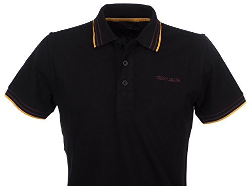 Teddy Smith Herren Poloshirt Pasian Mc Noir (Noir/Ochre-Brown)