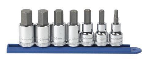 Mixte - 80720-7 pièces 1/5,1 cm Drive métrique à douille à choc hexagonale Lot de 6-19 mm