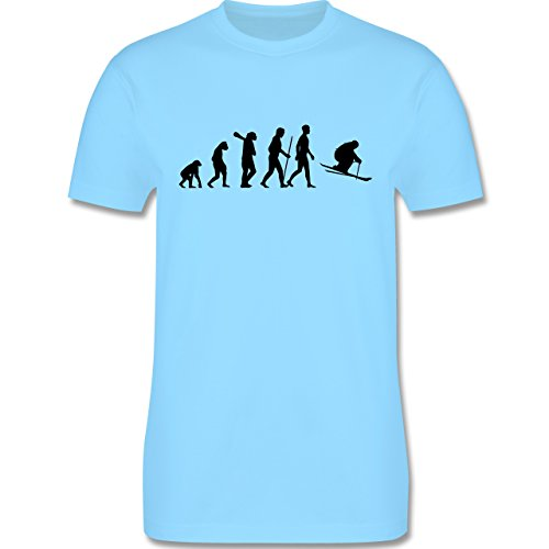 Evolution - Skiabfahrt Evolution - Herren Premium T-Shirt Hellblau