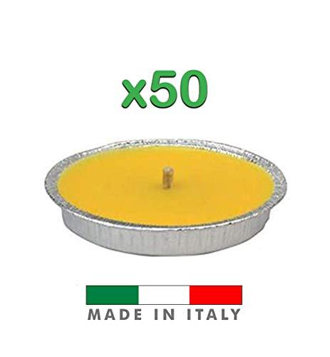 Palucart Candela citronella Giardino citronella Alluminio 14 Set da 50 Pezzi Giardinaggio antizanzare Feste ed Eventi
