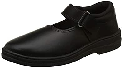 Lakhani Girls Vellcro Black School Shoes (Size 11C UK / Age 4 -5Yrs)