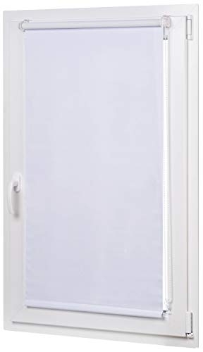 AmazonBasics - Estor opaco y enrollable, con revestimiento de color a juego, 76 x 150 cm, Blanco