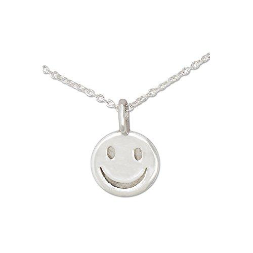 Silberwerk, Anhänger mit Silberkette, Mini Anhänger Smiley mit Kette