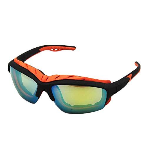 xinzhi Fahrrad-Sonnenbrillen , Sportbrillen Outdoor Sports Sunglasses Men Riding Glasses Riding Sunshade Mirror - Yellow Film