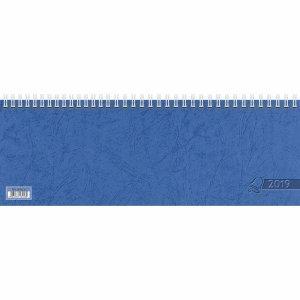 Glocken Querkalender 29,7x10,5cm 1 Woche/2 Seiten blau Kalendarium 2019 -