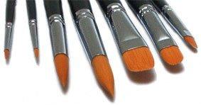 7 Toray Künstlerpinsel Spitzpinsel spitz Katzenzungenpinsel Pinsel für Acrylfarben und Aquarellfarben
