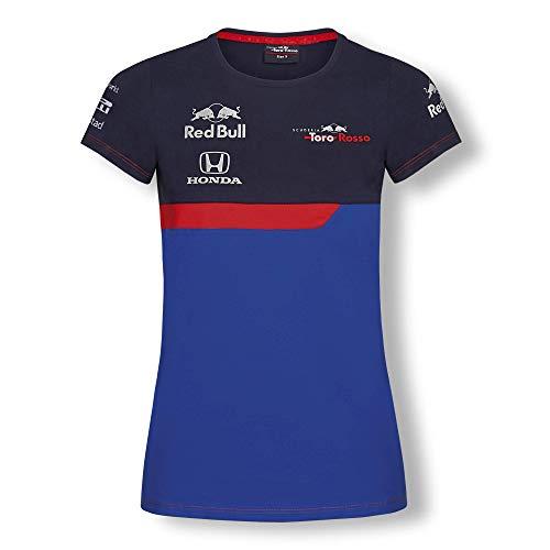 Toro Rosso Official Teamline Camiseta, Azul Mujer Small Top, STR Red Bull F1 2019 Original Ropa & Accesorios