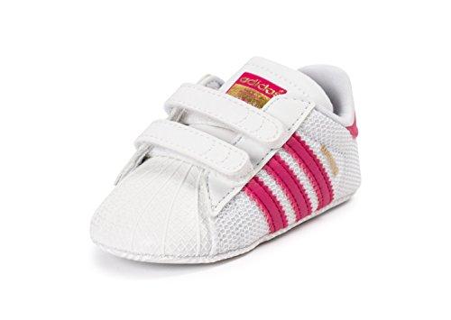 adidas Superstar Crib, Chaussures Premiers Pas Fille Blanc
