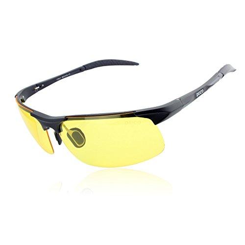 Duco Nachtsichtbrillen polarisierte Nachtfahr-Brille Anti-Glanz Nachtfahrbrille 8177 (schwarz)