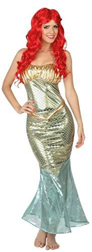 Des Meeres Kostüm Kreaturen - Fancy Me Damen Sexy Gold Meerjungfrau Mythisches Meer Kreatur TV-Buch Film Buch Tag Karneval Kostüm Outfit UK 8-18