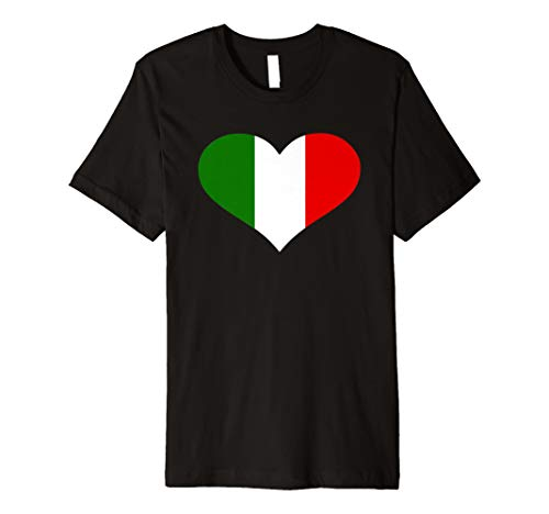 Italien Herz Flagge T-Shirt