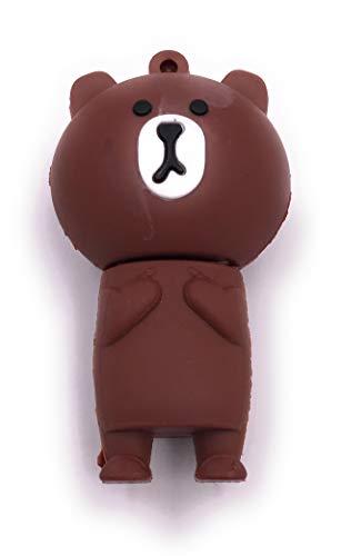 H-Customs Grizzly Bear marrón Miel Oso USB Stick 16 GB USB 3.0